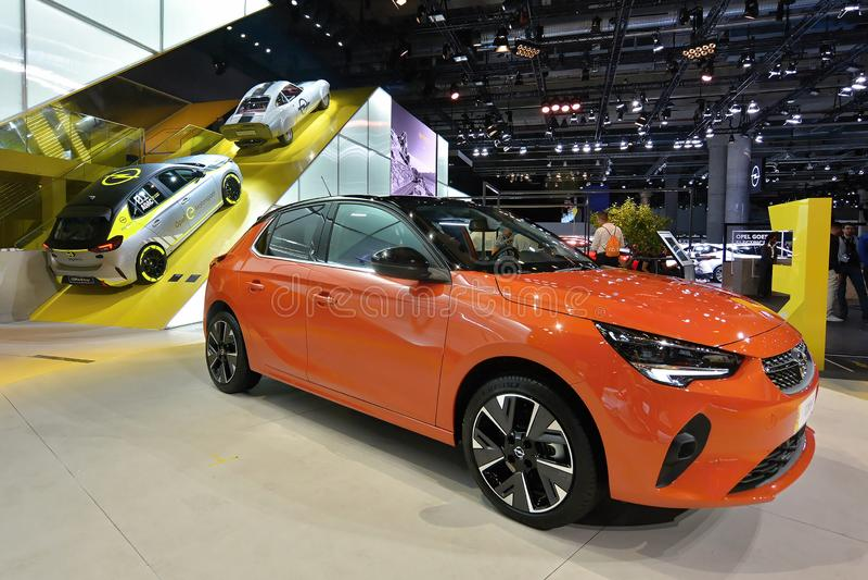 68. IAA Frankfurt 2019 -  Opel Corsa F royalty free stock photography