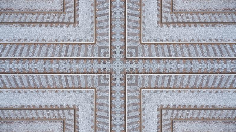 Original railway rail design. Can be used as background or for other possibilities vector illustration
