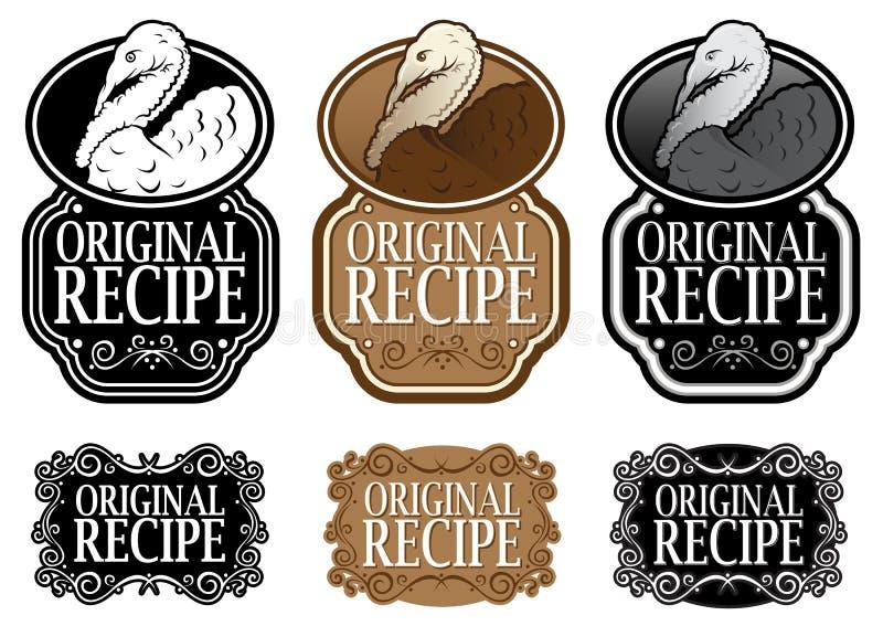 Original Recipe stock illustration