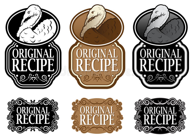 Download Original Recipe stock vector. Illustration of badge, icon - 24859456