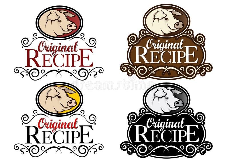 Download Original Recipe Pork Classical Seal Stock Photo - Image: 24893490