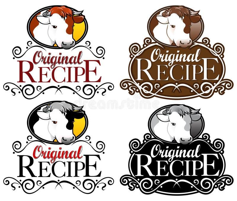 Download Original Recipe Seal Beef Version Stock Vector - Image: 18496998
