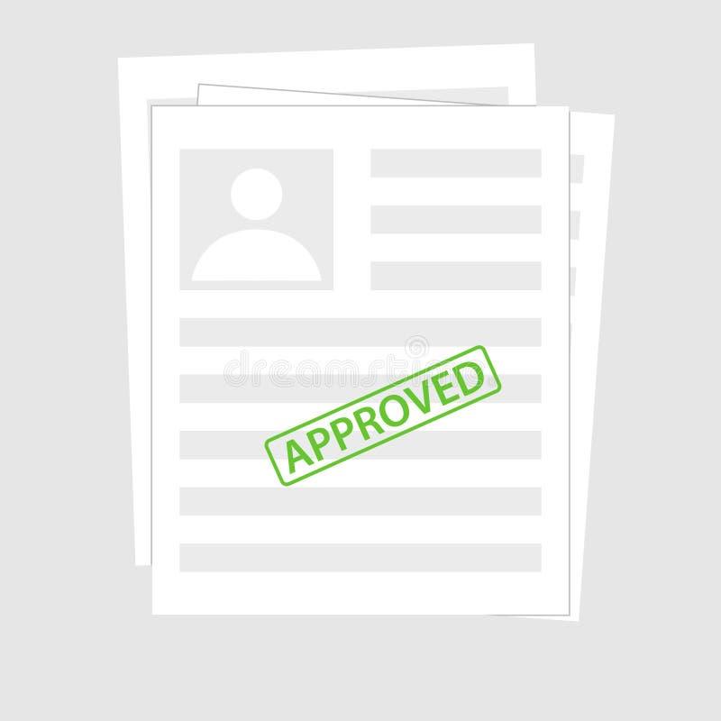 Original rejeitado com selo e pena Elementos lisos modernos do gráfico do projeto Conceitos rejeitados da aplicação Vetor ilustração royalty free