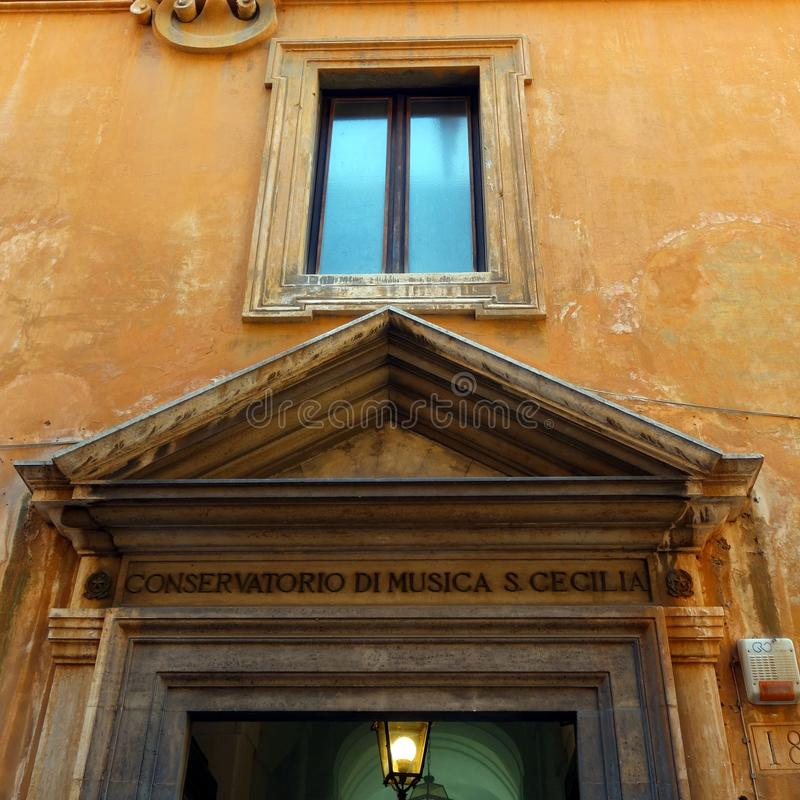 Original Rome Building, Detail stock photo