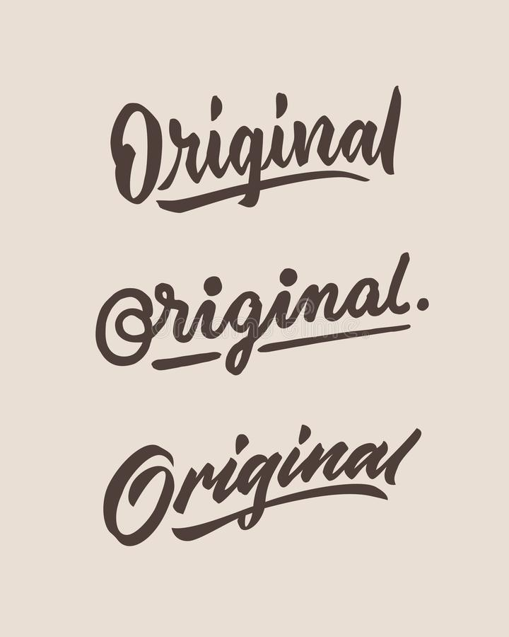 Free Original Roughen Vintage Hand Lettering Typography Phrase Stock Photography - 112369892