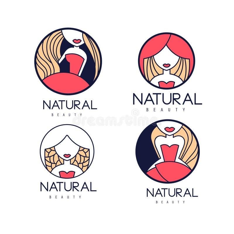 Hair And Beauty Logos (vector) Stock Vector