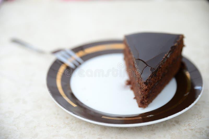Original- Sacher Torte WIEN arkivbild