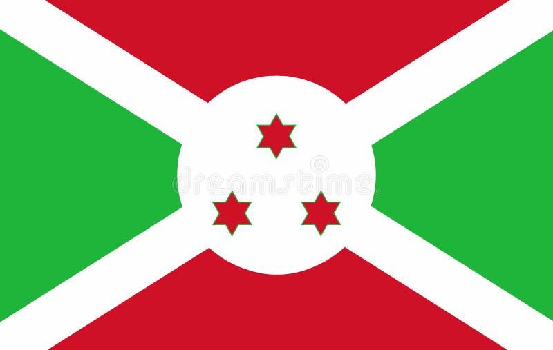 Burundi flag stock illustration