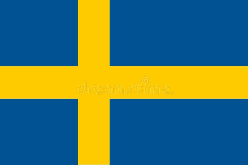 Original and simple Sweden flag isolated vector in official colors and Proportion Correctly. royalty free illustration