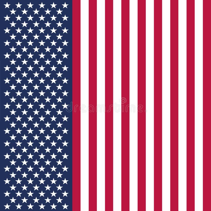 Original and simple United State of America flag isolated vector in official colors and Proportion Correctly USA royalty free illustration