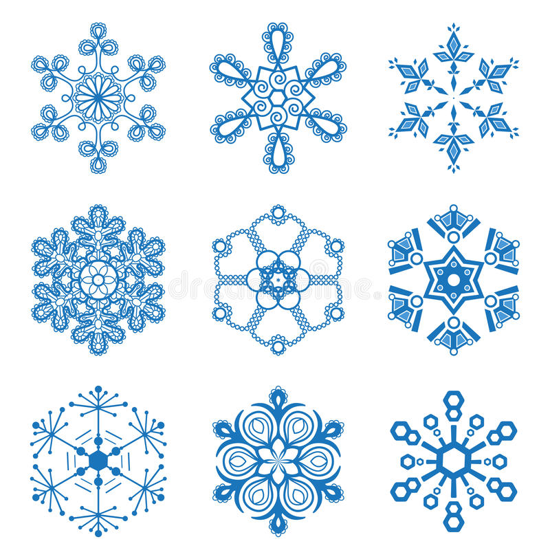 Download Original Snowflakes Set Royalty Free Stock Images - Image: 28139189