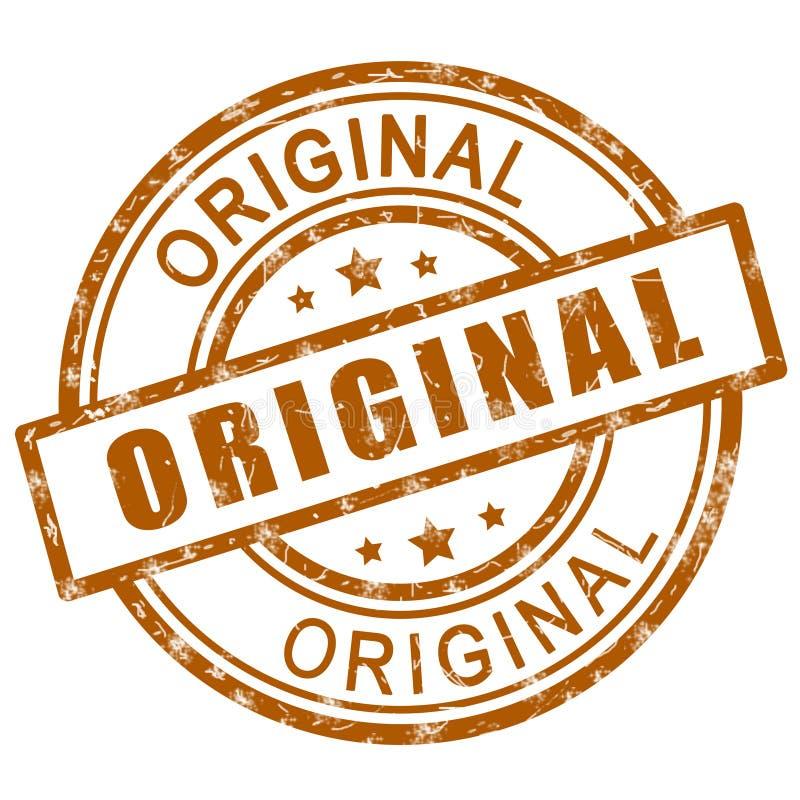 Original stamp. Brown original stamp sign icon. vector illustration