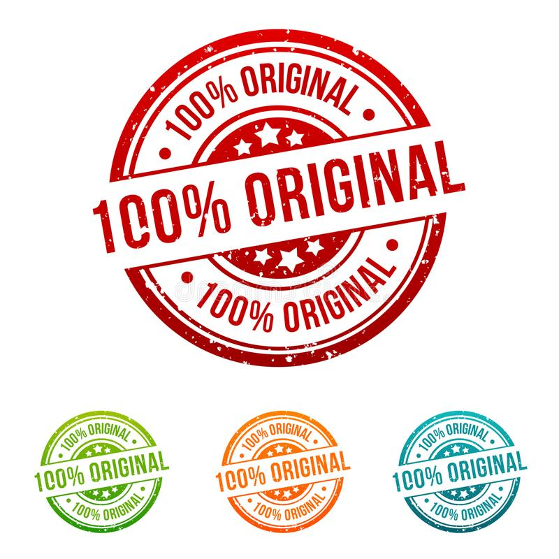100% Original Stamp Button Banner Badge in different colours. vector illustration