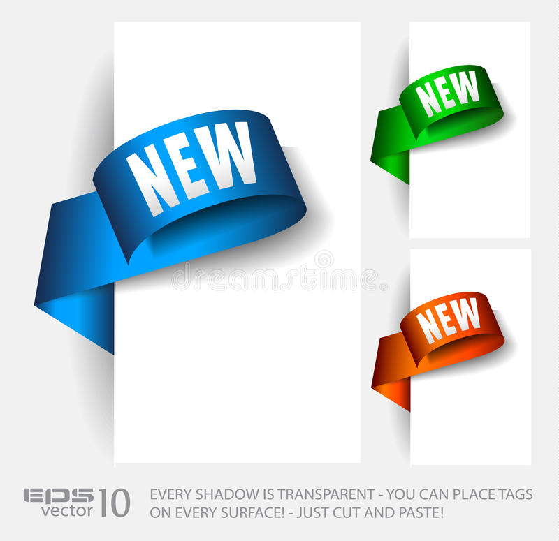 Original Style Paper Tags Stock Image