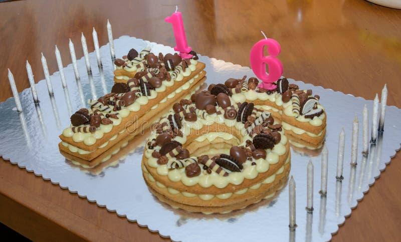 Incredible Sweet Sixteen Birthday Cake Stock Photos Download 66 Royalty Personalised Birthday Cards Veneteletsinfo