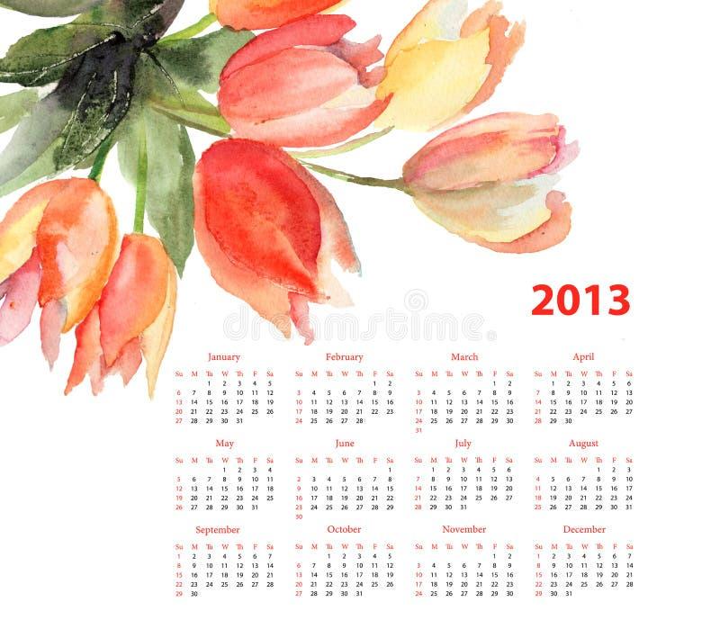 Download Original Tulips flowers stock illustration. Illustration of tulips - 28336260