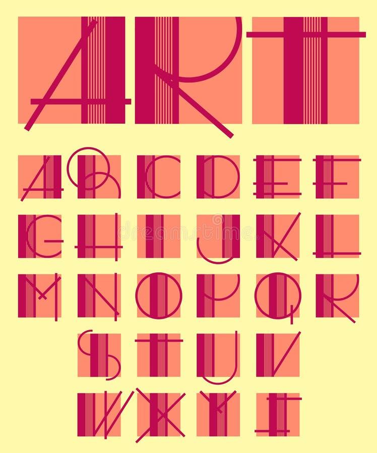 Original- unik modern alfabetdesign vektor illustrationer