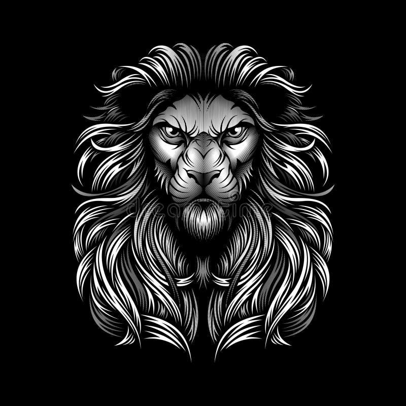 ELEGANT LION HEAD VECTOR DESIGN stock images