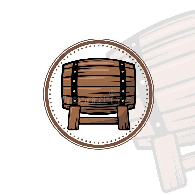 SIMPLE AND CLEAN COLOUR BEER BARREL VECTOR DESIGN stock photography