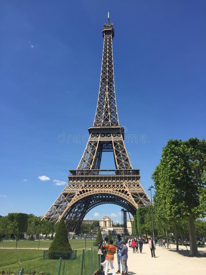Original view of the Eiffel Tower royalty free stock images