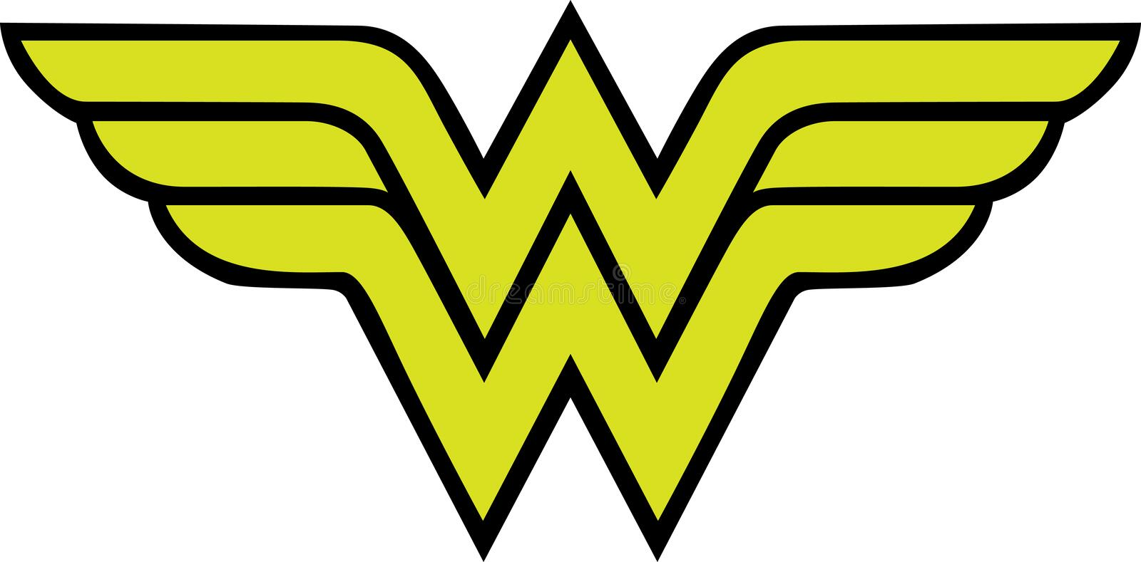 Wonder Woman Logo vector illustration