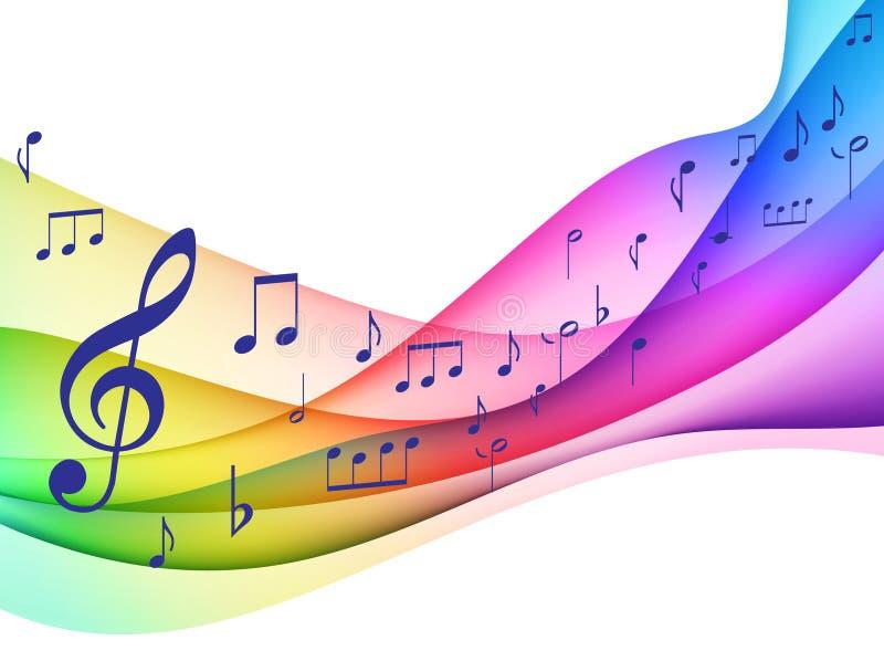Originale Illustrati delle note musicali di spettro di colore illustrazione vettoriale
