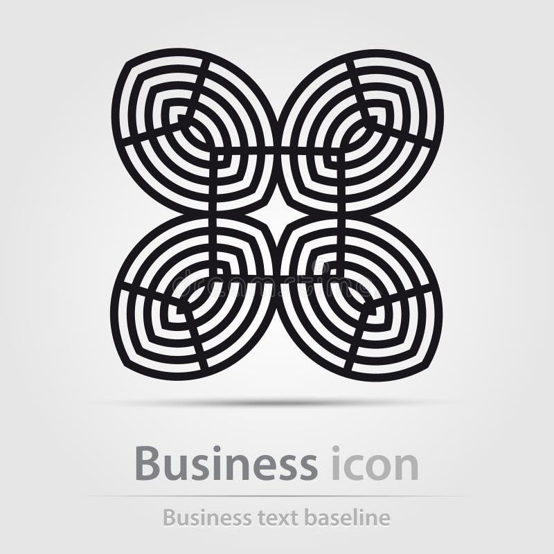 Originalmente ha creato l'icona astratta di affari di colore illustrazione di stock