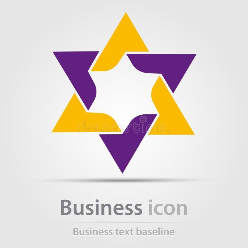 Originalmente ha creato l'icona astratta di affari di colore royalty illustrazione gratis