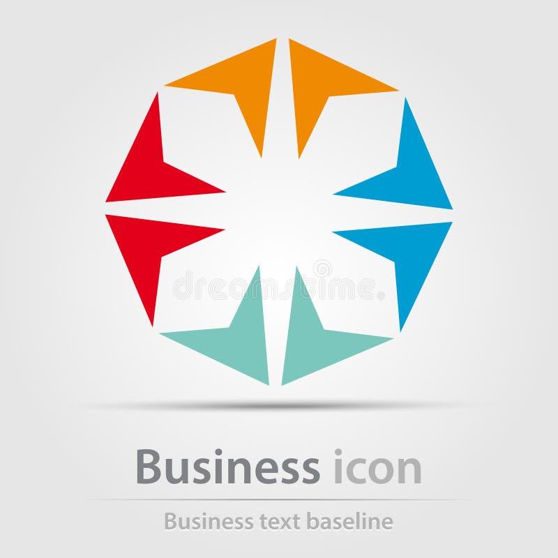 Originalmente ha creato l'icona astratta di affari di colore illustrazione vettoriale
