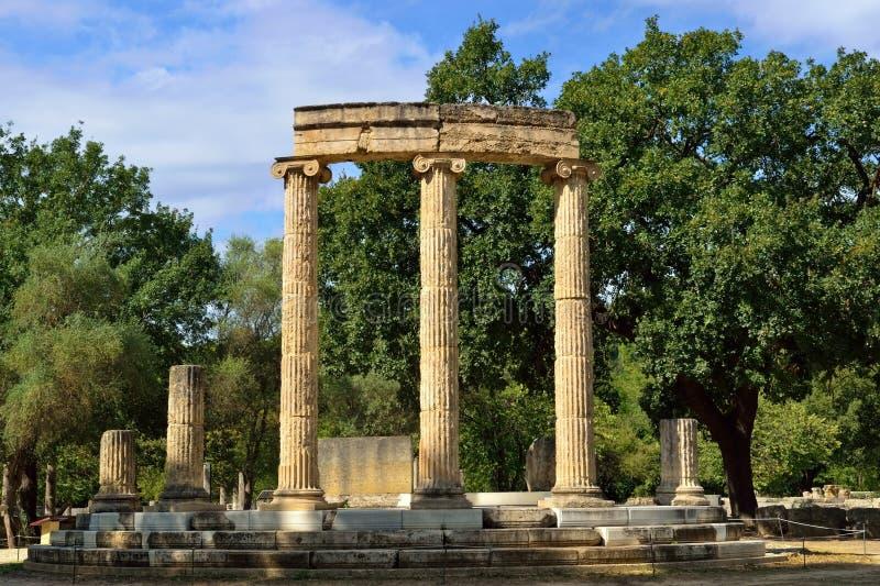 Origine d'Olympia de la Grèce des Jeux Olympiques image stock