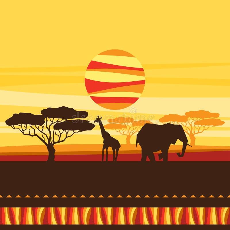 Origine ethnique africaine avec l'illustration de illustration de vecteur