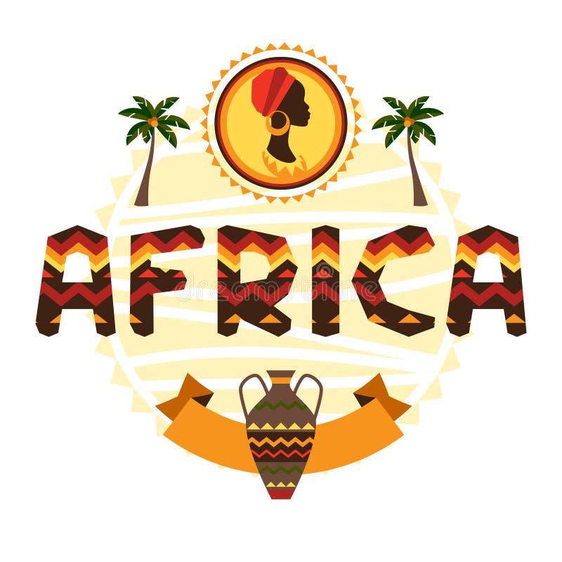 Origine ethnique africaine avec l'ornement géométrique illustration de vecteur