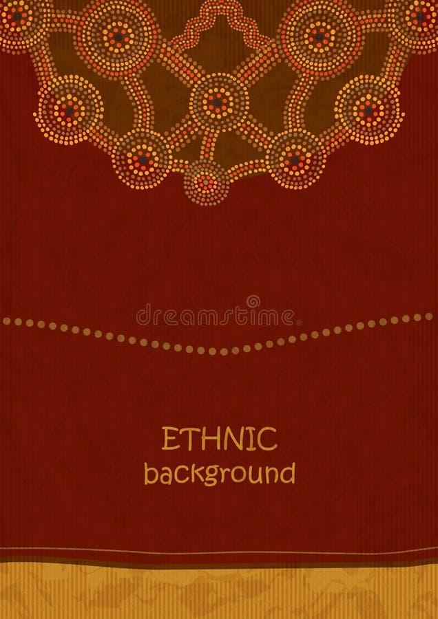 Origine ethnique dans le style indigène d'art illustration stock