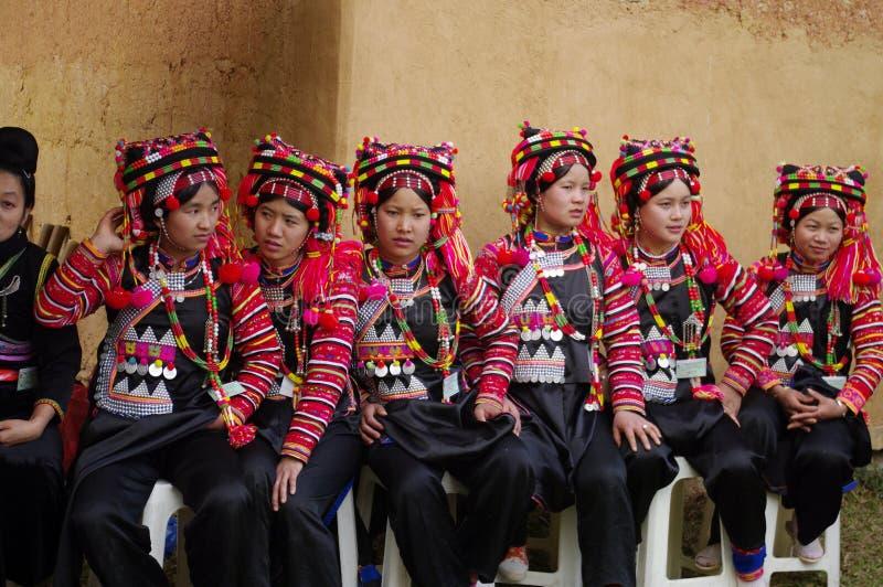 Origine etnica dell'ha Nhi delle ragazze fotografia stock libera da diritti