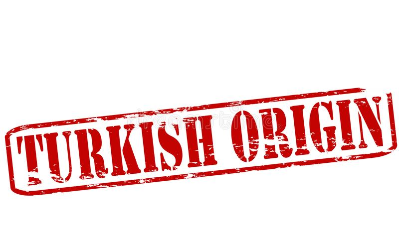 Origine turque illustration stock