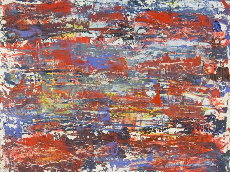 Origineel Abstract Olieverfschilderij door Brad Rickerby royalty-vrije stock afbeelding