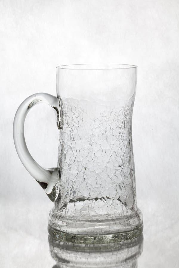 Origineel bierglas op witte achtergrond royalty-vrije stock foto's