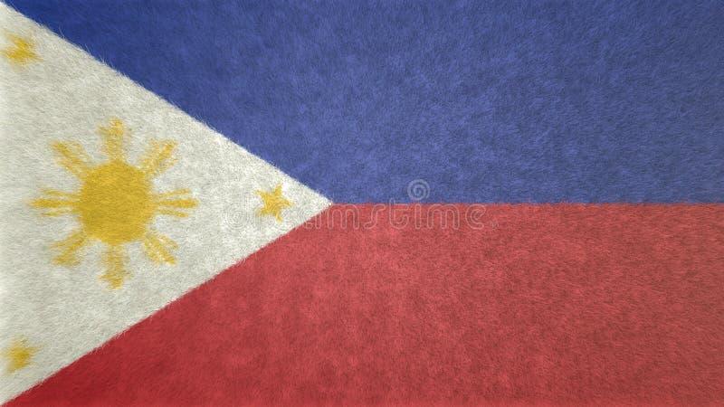 Origineel 3D beeld van de vlag van Filippijnen vector illustratie