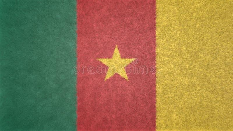 Origineel 3D beeld van de vlag van Kameroen royalty-vrije illustratie