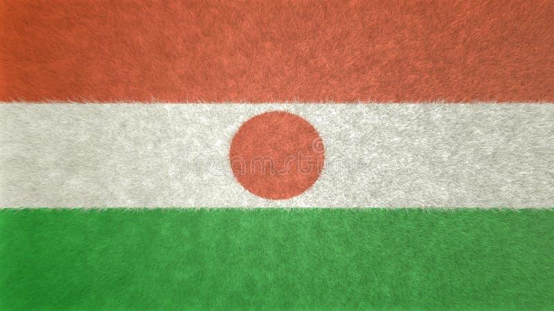 Origineel 3D vlagbeeld van Niger stock illustratie