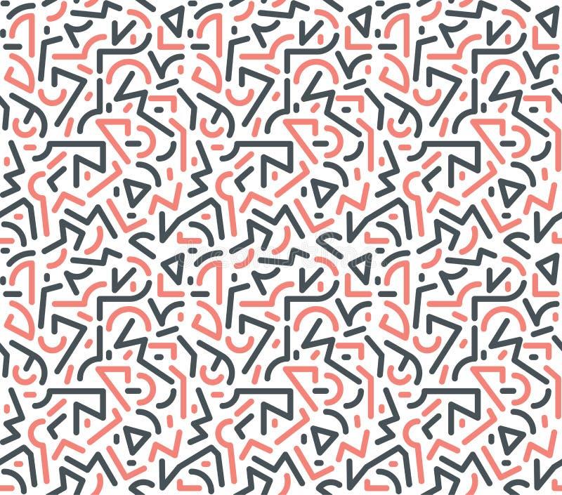 Origineel geometrisch modern pop-artpatroon vector illustratie