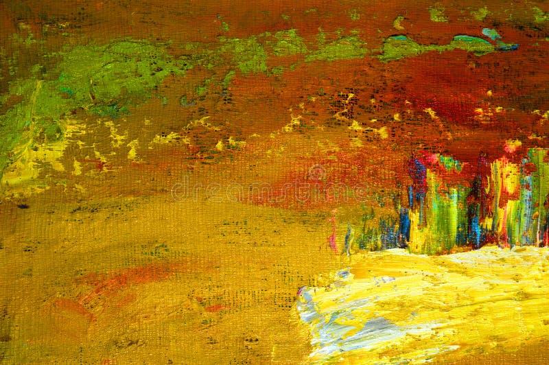 Origineel Olieverfschilderij royalty-vrije stock fotografie