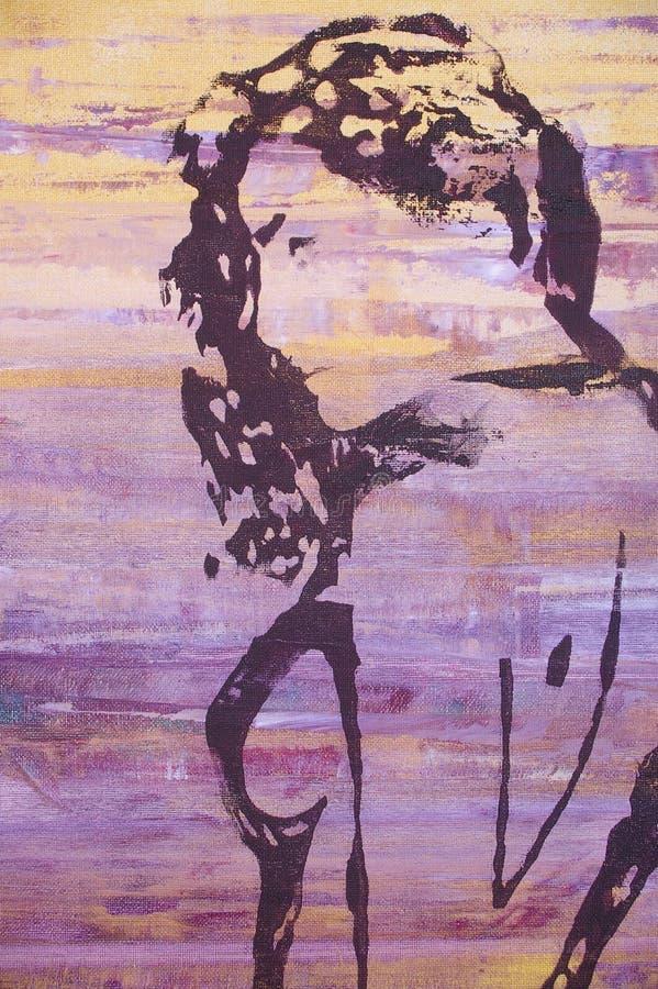 Origineel olieverfschilderij stock illustratie