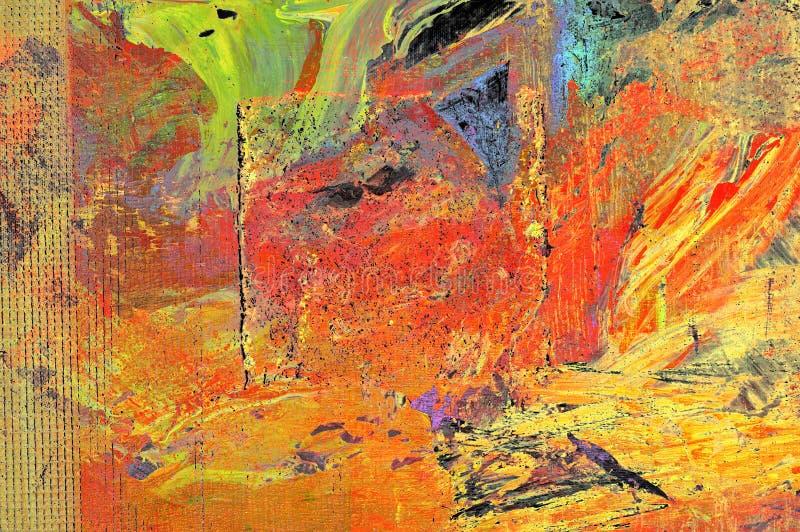 Origineel Olieverfschilderij royalty-vrije stock afbeeldingen