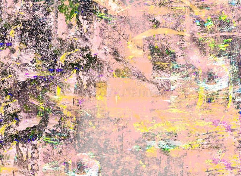 Origineel Olieverfschilderij stock foto's