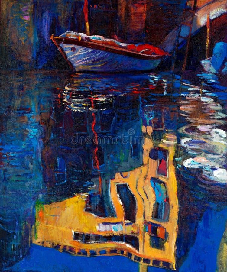Het kanaal van de rivier stock illustratie