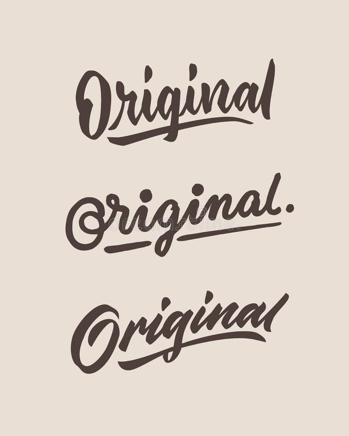 Origineel ruw uitstekende hand het van letters voorzien typografieuitdrukking vector illustratie