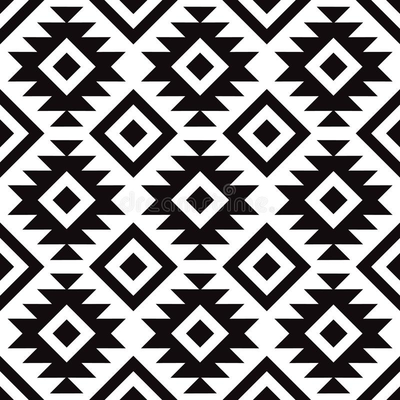 Origineel Skandinavisch modern zwart-wit patroon stock illustratie