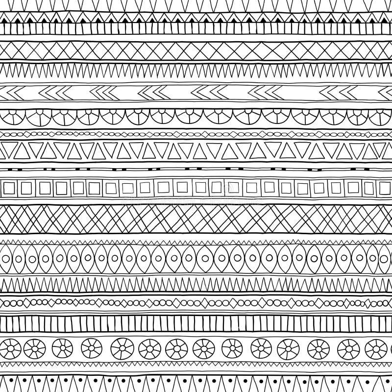 Origineel stammendoddle etnisch patroon royalty-vrije illustratie