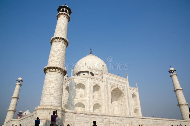 Origineel, Taj Mahal Seven Wonders Concept, India, stock foto's